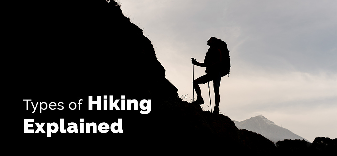 advanced hiker climbing a mountain with lots of gear and plenty of water