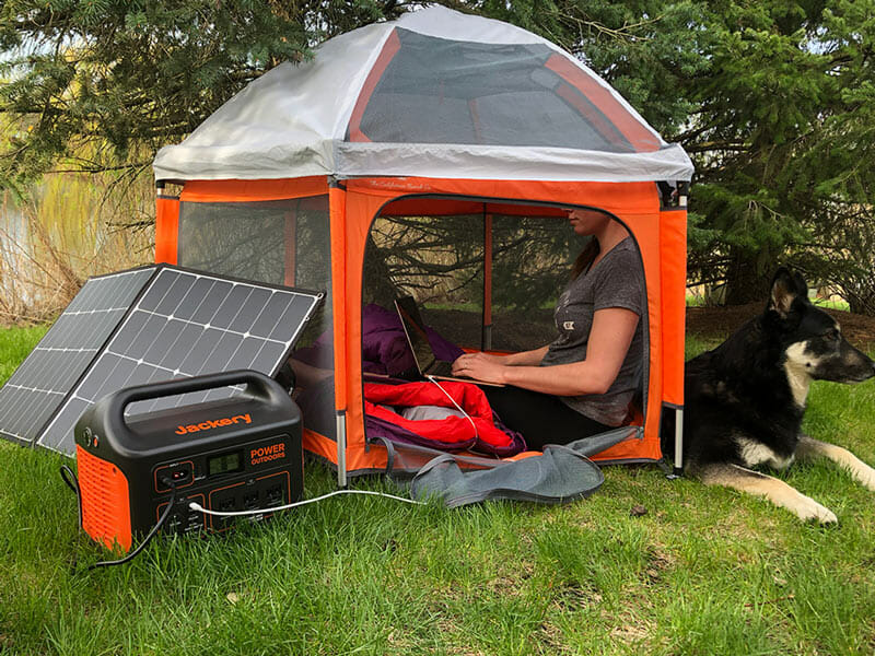 camping with a solar generator
