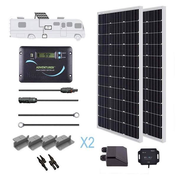 200w rv solar panel kit