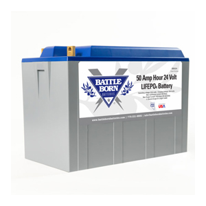 battle born 50ah 24 volt lithium deep cycle battery