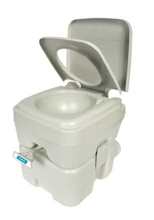 travel with a portable chemical cassette toilet in an rv