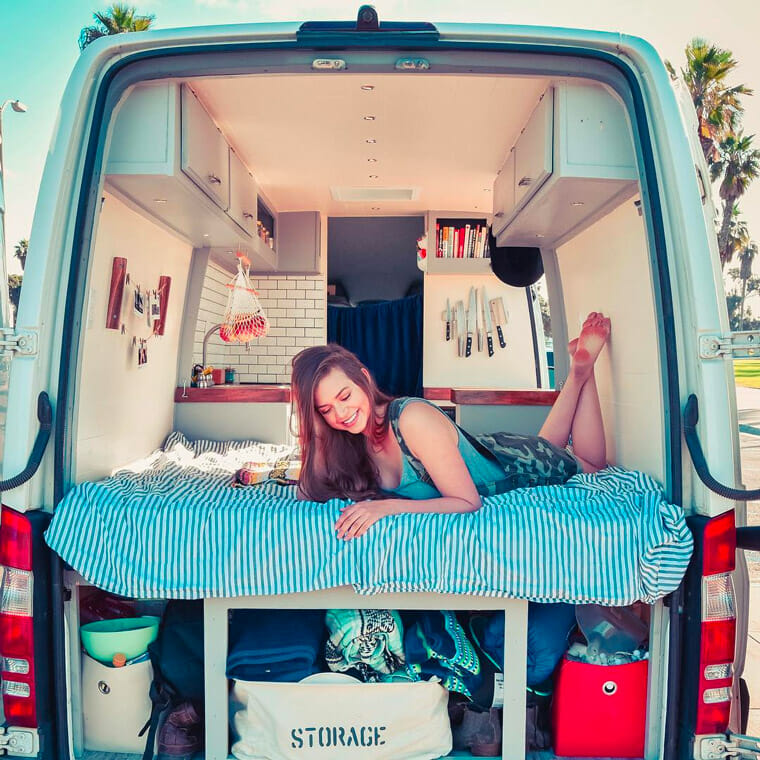 living in a campervan