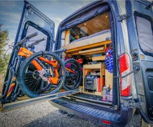 Loading Bicycles Into A Ford Transit Diy Camper Van Conversion