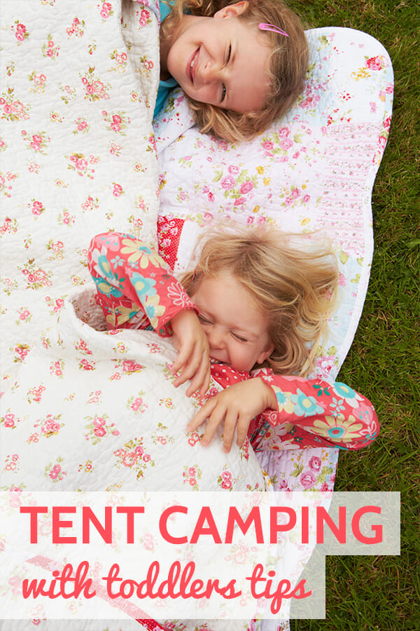 tips and tricks for tent camping with a toddler