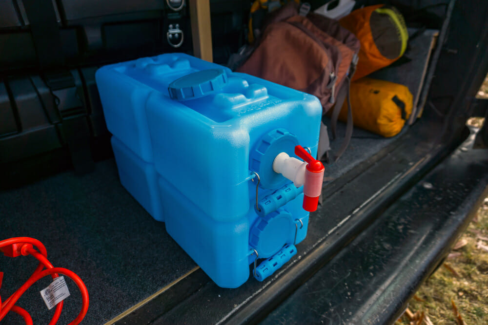 storing water in a campervan conversion