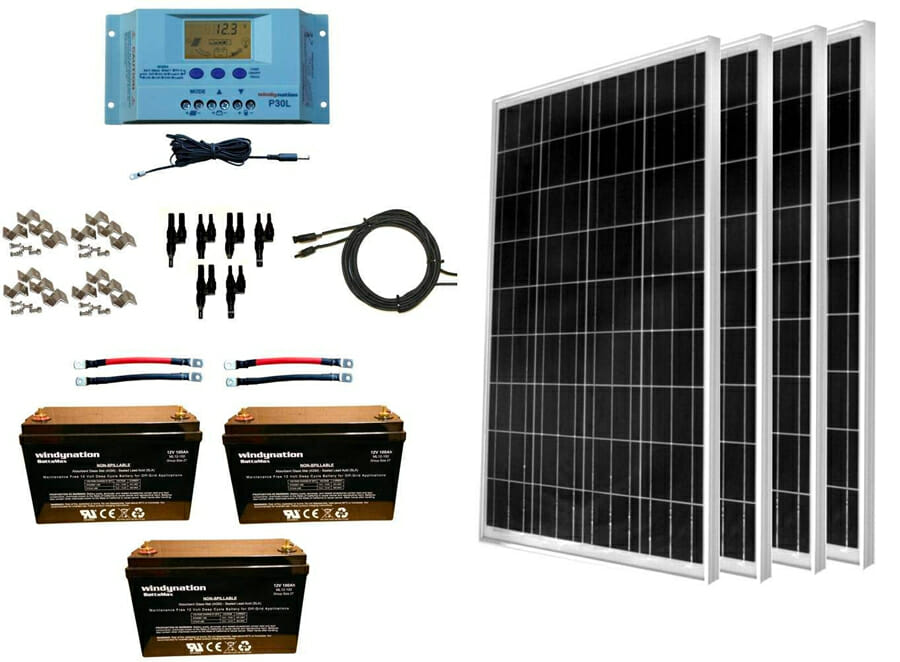 large solar panel kits for a camper van conversion