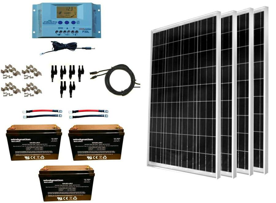 large solar panel kits for a camper van conversion