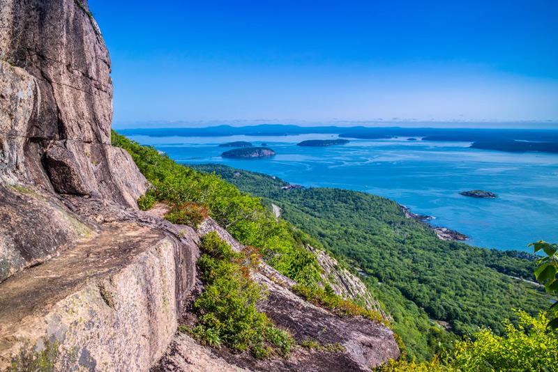precipice trail in acadia national park maine