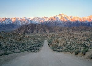 Driving Down Movie Road In Alabama Hills, California