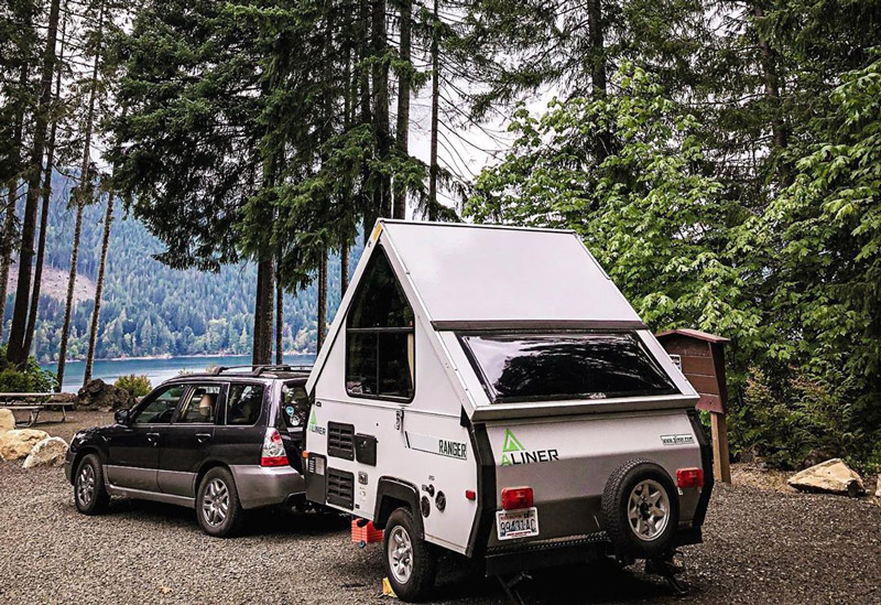 small a frame camper trailer