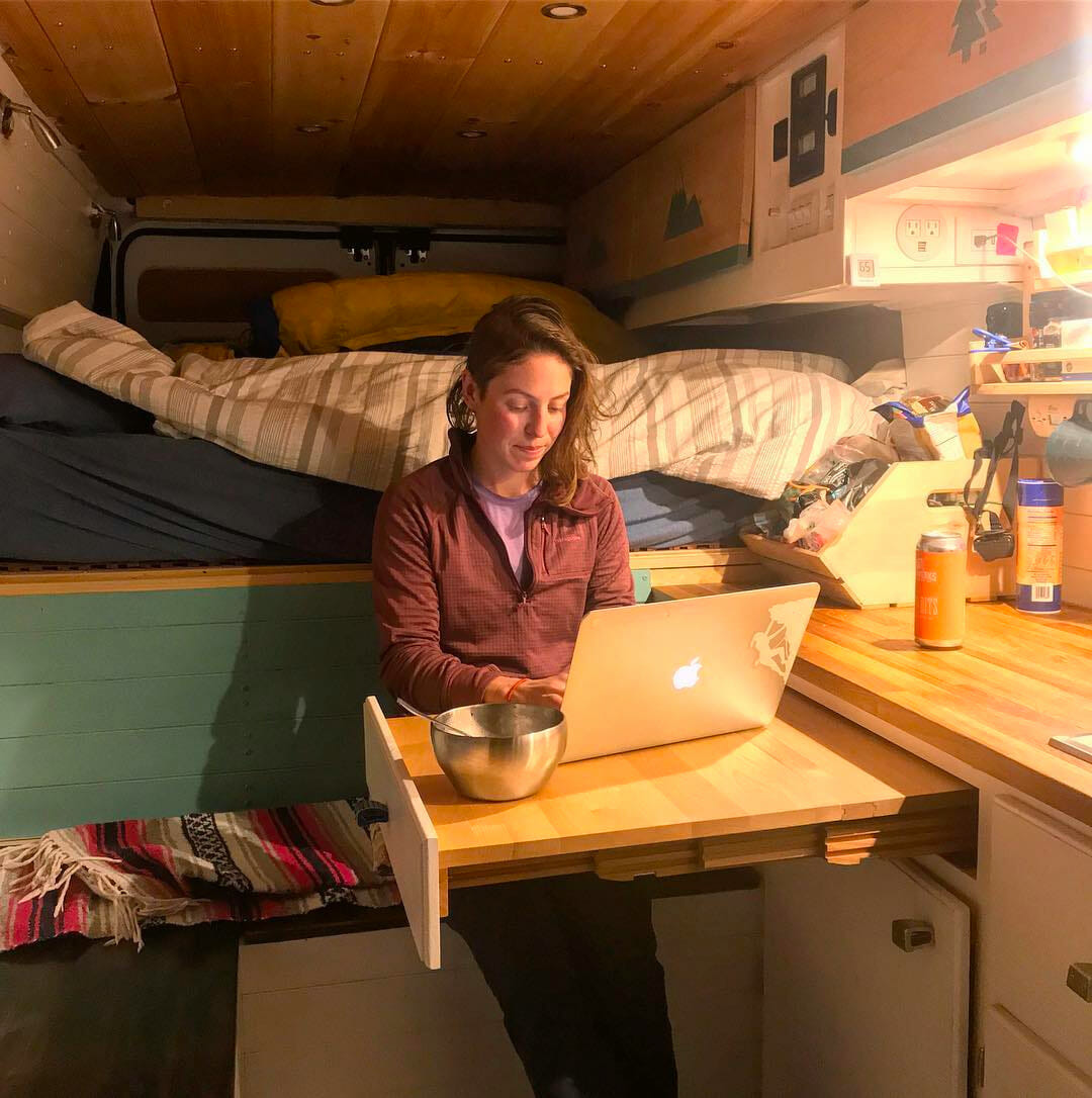 making money on the road while living in a camper van