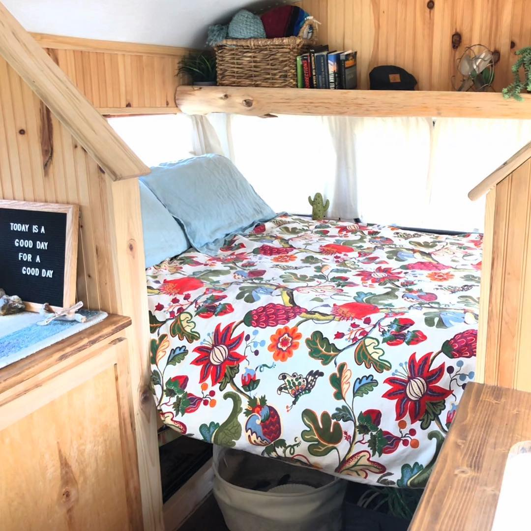 Living In A Tiny DIY Campervan