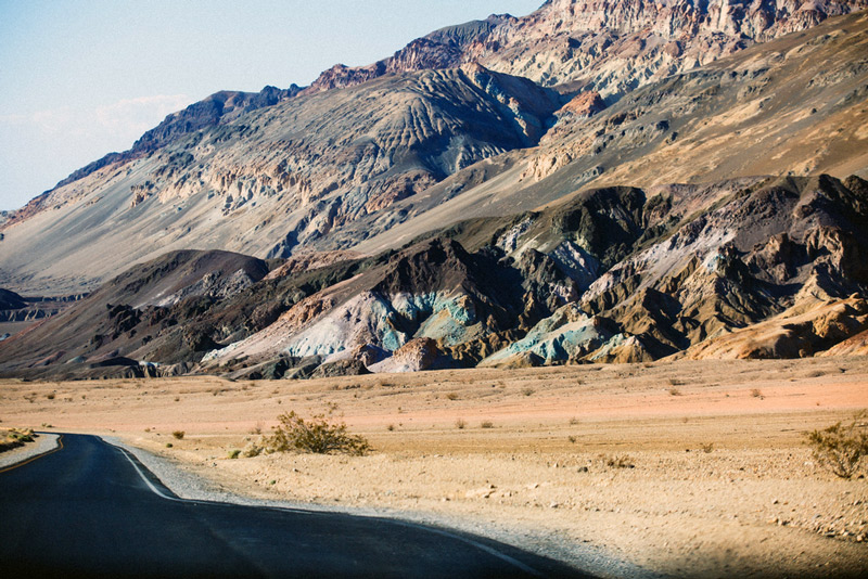 artists drive and artists pallet in death valley national park