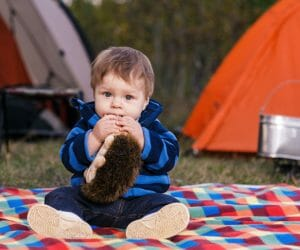 Baby Tent Camping In The Outdoors