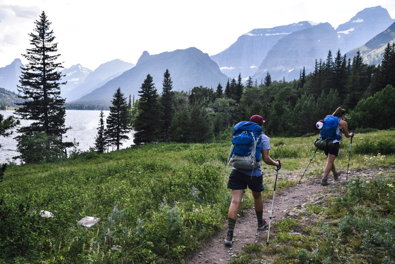 backpacking with permits in glacier national park