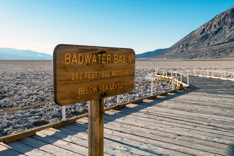boardwalk to badwater basin in death valley national park