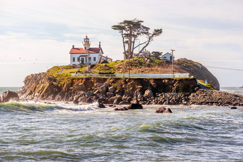 battery point lighthouse at redwood national park