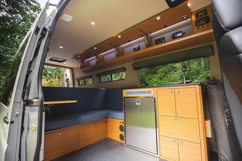 beautiful camper van conversion by outside van