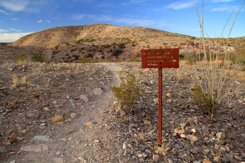 trail to the hot springs in big bend national park
