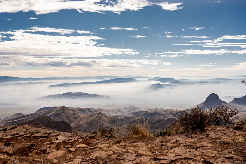 view from the south rim hiking trail in big bend national park