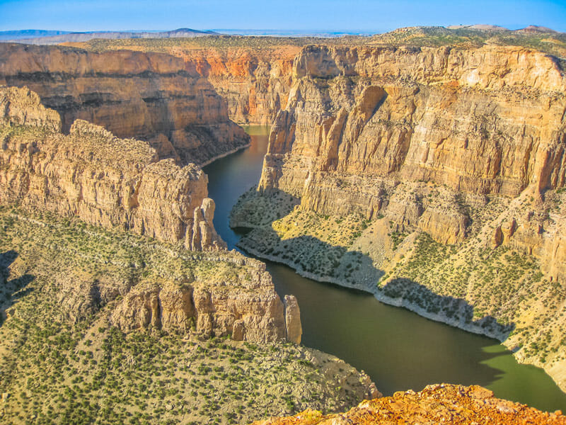 Bighorn canyon national recreation area in montana and wyoming