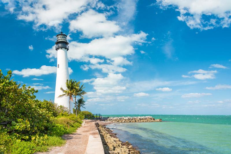 lighthouse at biscayne national park in florida