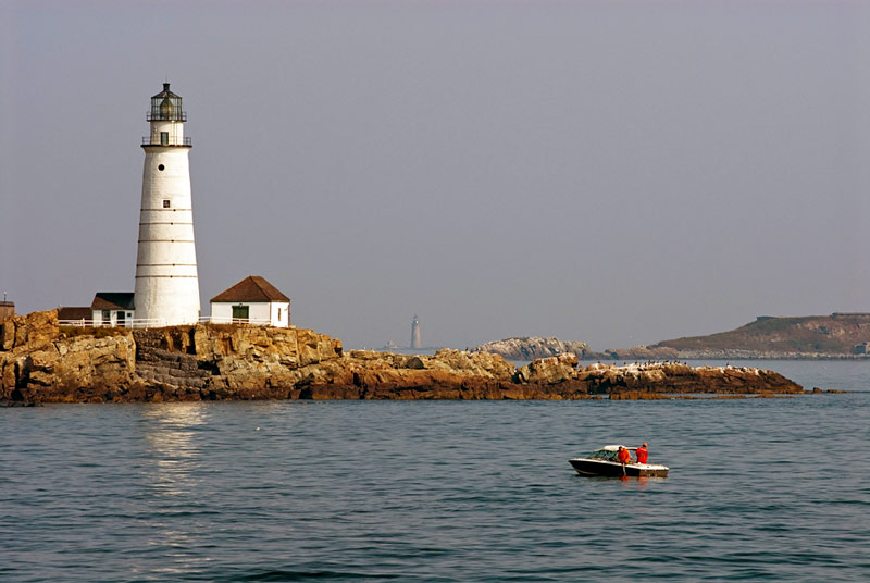 boston light on spectacle island in boston harbor islands national park