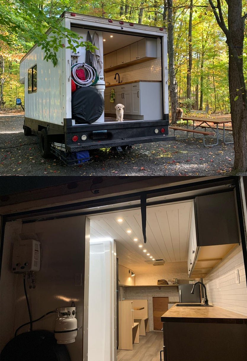 custom diy box truck conversion design