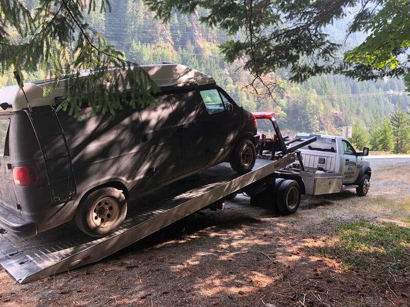 broken camper van