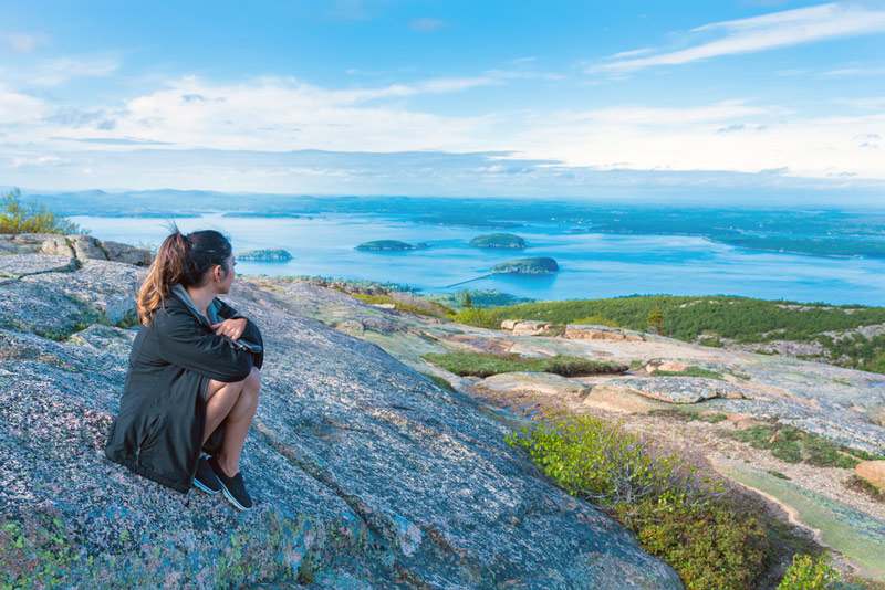 View From The Top Of Cadillac Mountain In Acadia National Park Maine