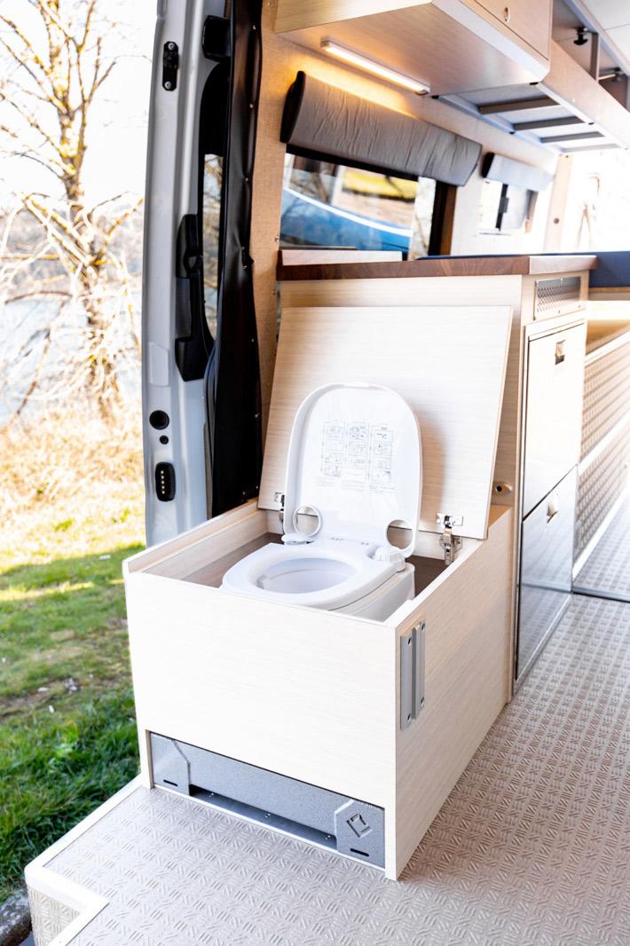 camper van bathroom toilet
