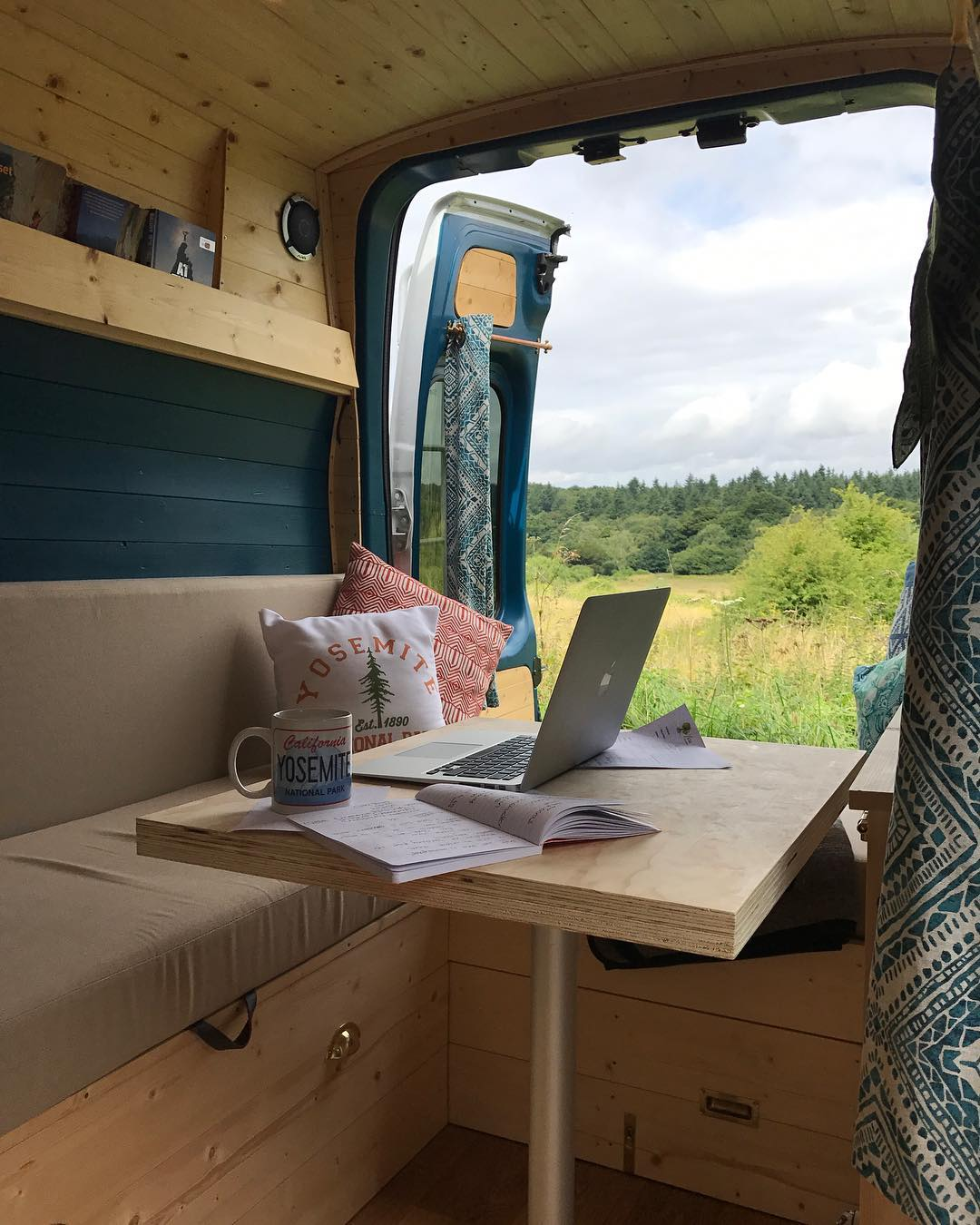 Working as a digital nomad and using a cell signal booster in a camper van conversion or RV