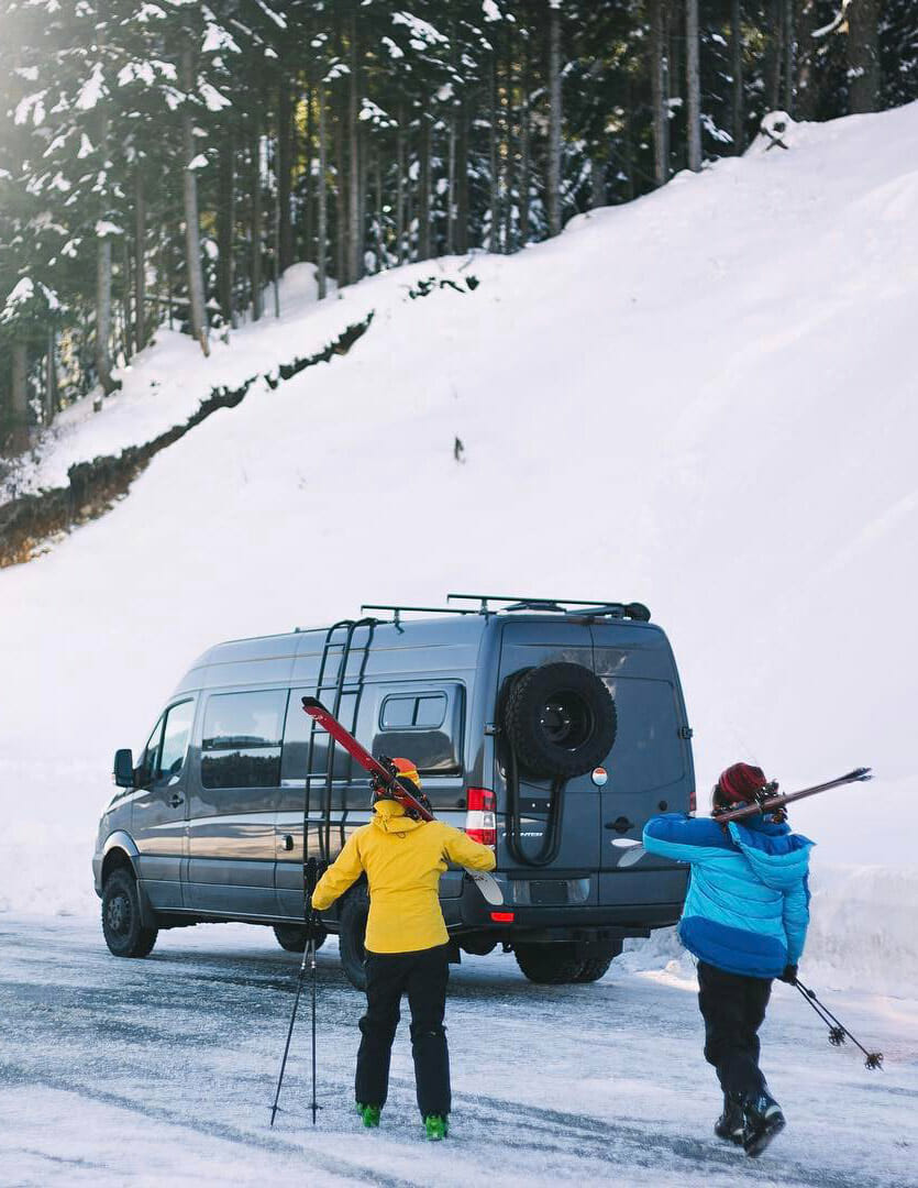 Using a propane air heater to heat a camper van conversion in winter
