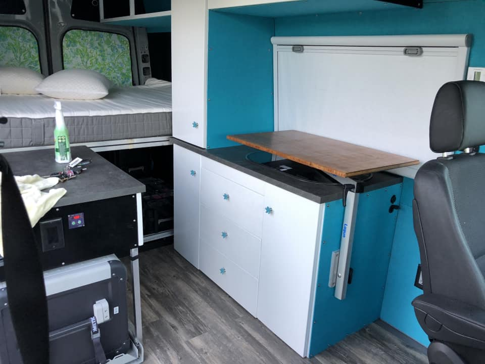 save table space in a diy camper van conversion with these #vanlife storage hacks