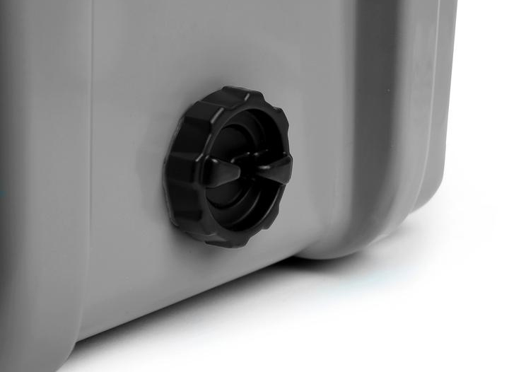 Camping cooler drains and drain plugs