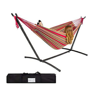 take a portable hammock stand camping