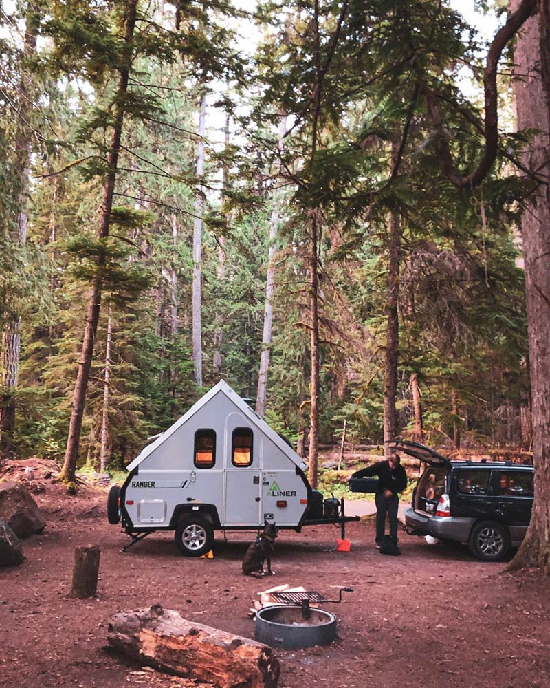 Camping in an A Frame