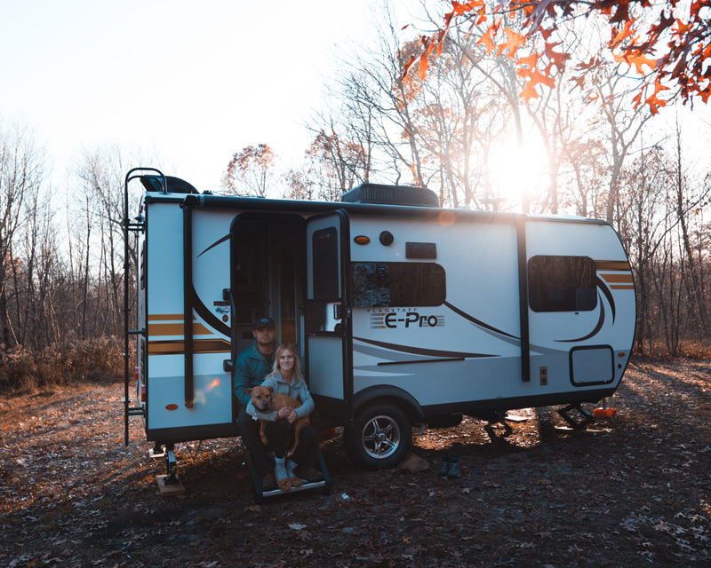 camping in a jeep trailer