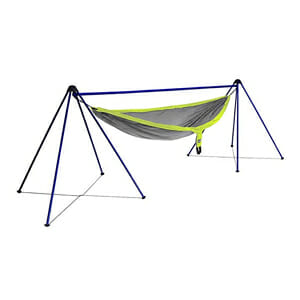 pack a portable hammock stand on your camping trip
