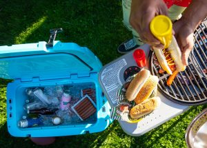 Cooking And Food Storage Using A Portable Camping Cooler