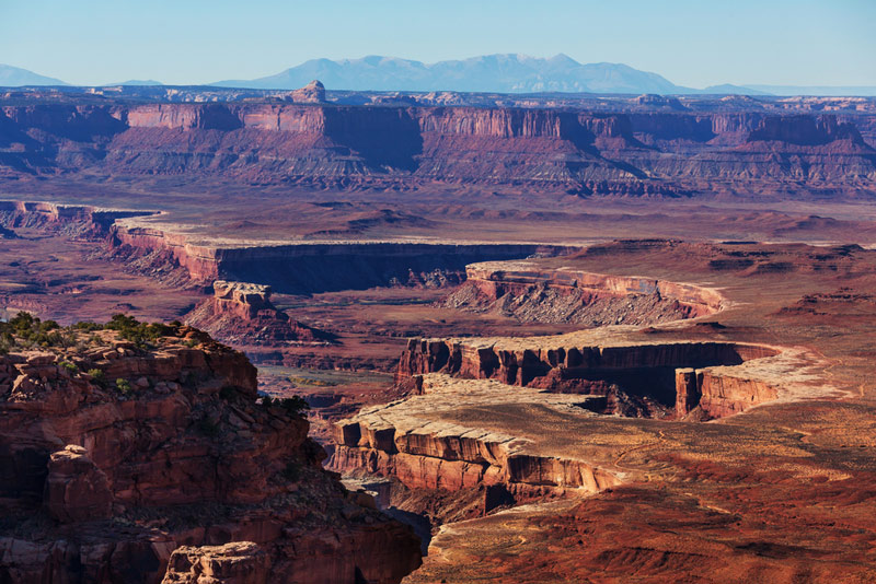 overlook at island of the sky in canyonlands national park in utah