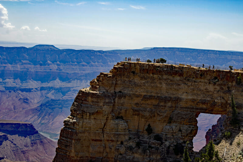 Cape Royal Overlook and Angel's Window on the grand canyon north rim