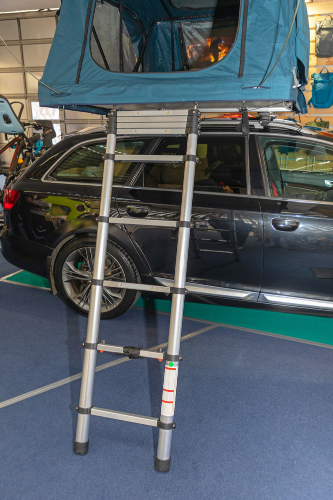 retractable rv ladder for car camping and travel trailers
