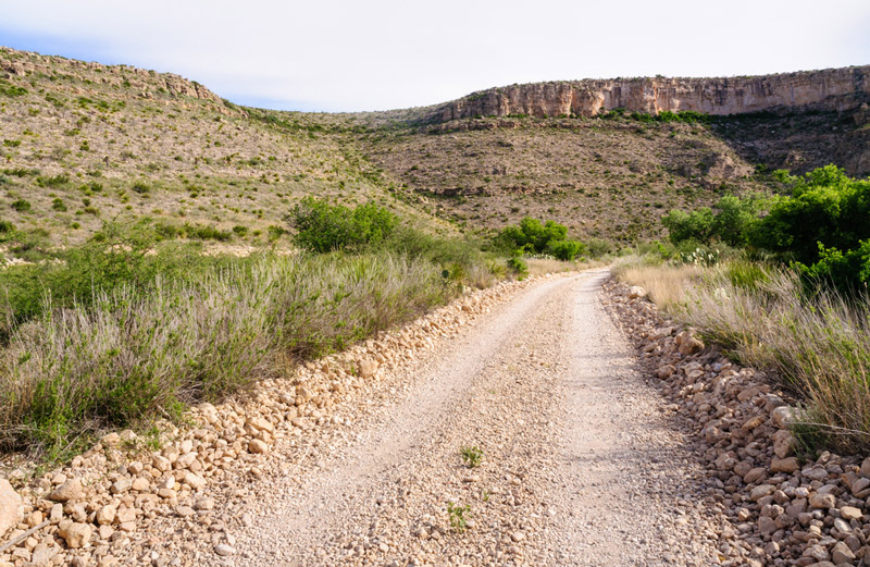 Dispersed Camping Road Near Carlsbad Caverns National Park In New Mexico
