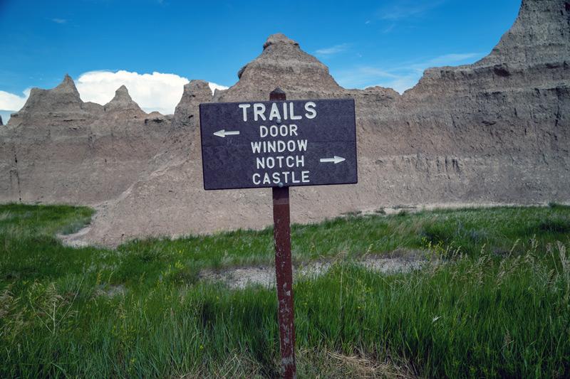 hiking the castle trail in badlands national park south dakota