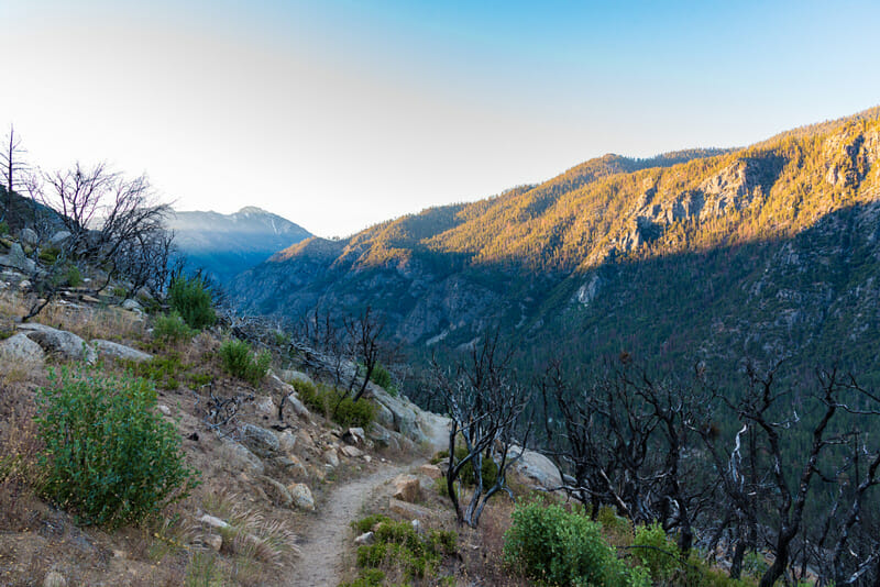 hiking from campgrounds at cedar grove in kings canyon national park