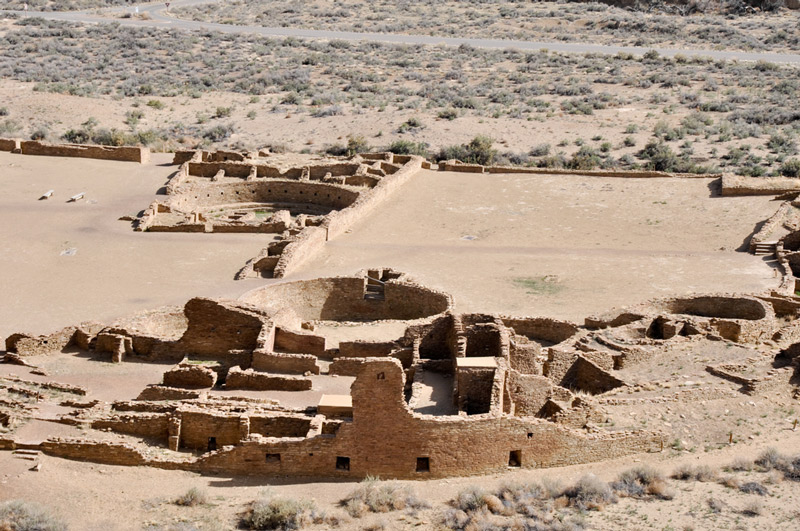 ruins in chaco culture national historic park in new mexico