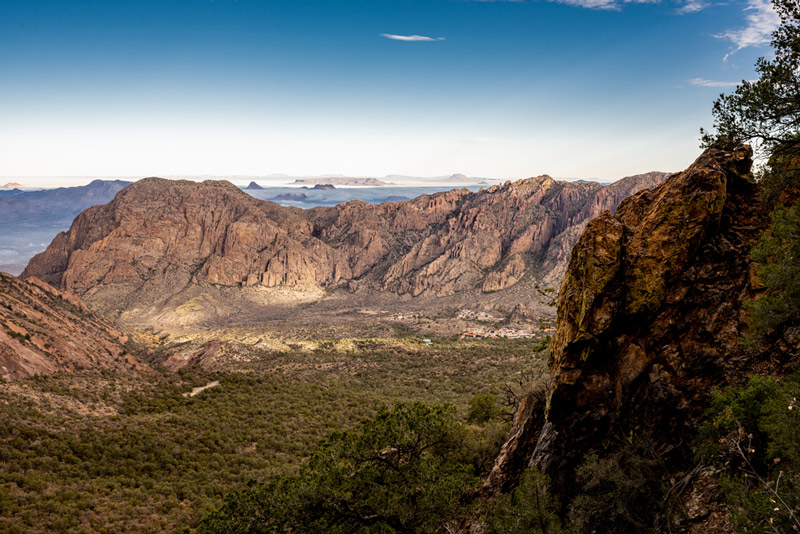chisos basin area in big bend national park