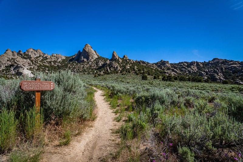 hiking trail in city of rocks national park idaho