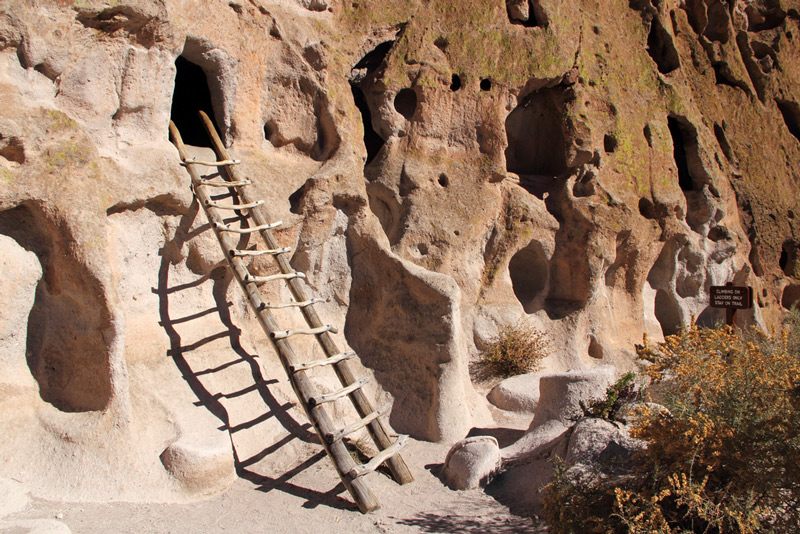 cliff dwellings in bandelier national park new mexico